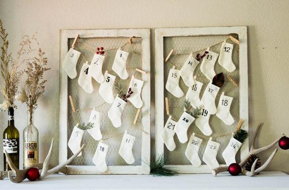 Miniature Christmas Stockings Advent Calendar