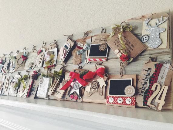 Peppermint Wood Advent Calendar