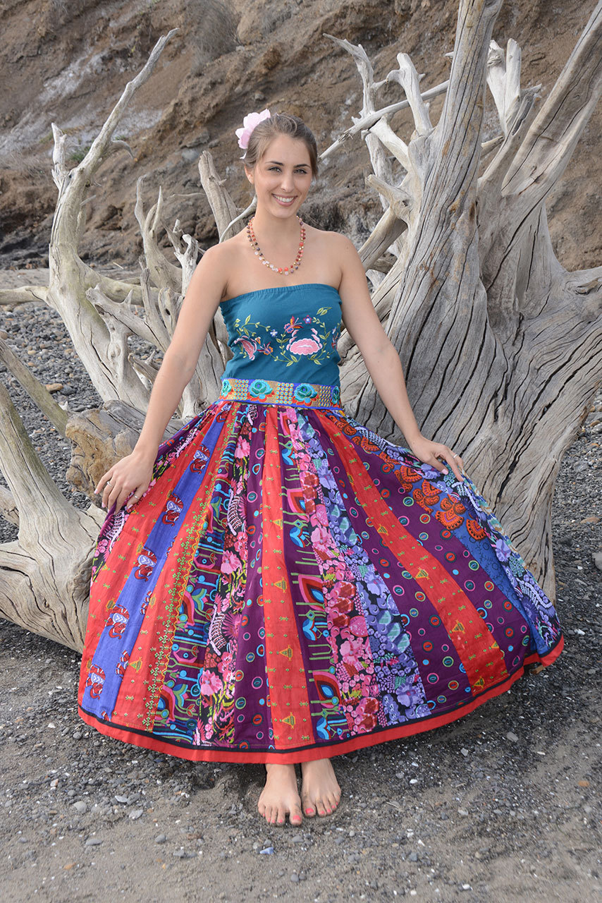 patchwork wide skirt jayli
