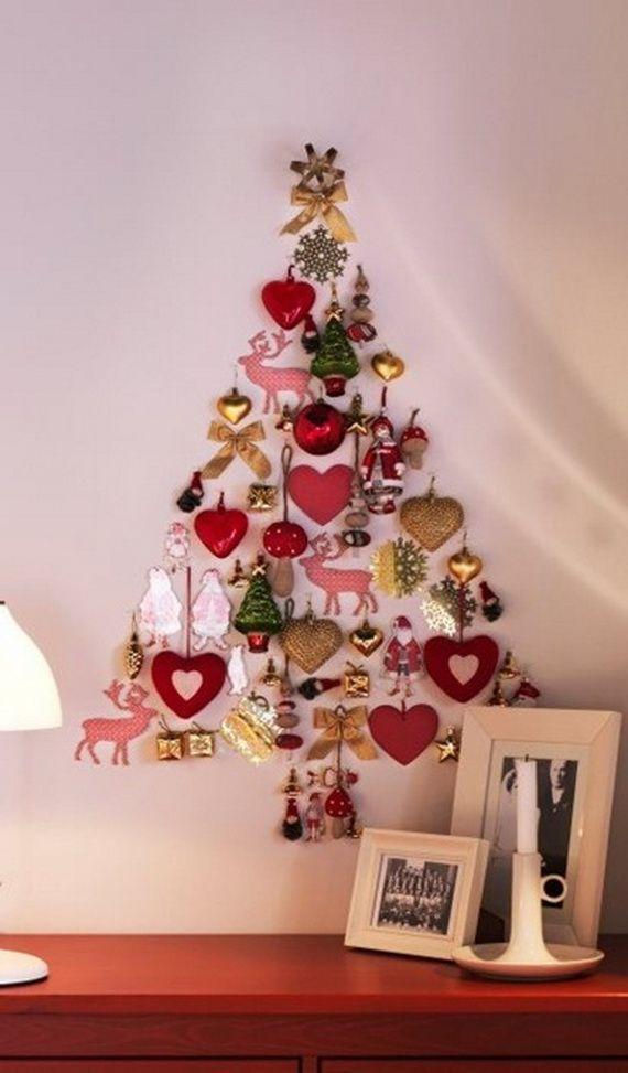 Mixed Ornament Shaped Alternative Christmas Tree