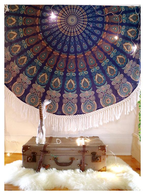 Roundie Mandala Gypsy Tapestry