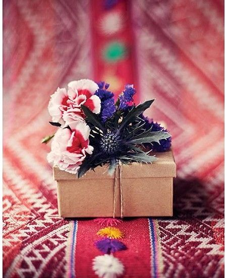 bohemian gift wrapping