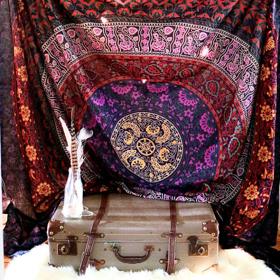 oriental dream mandala hippie tapestry