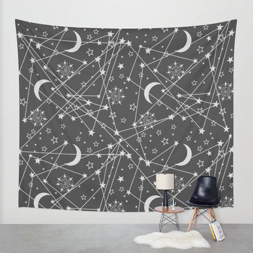 sun and moon hippie tapestry