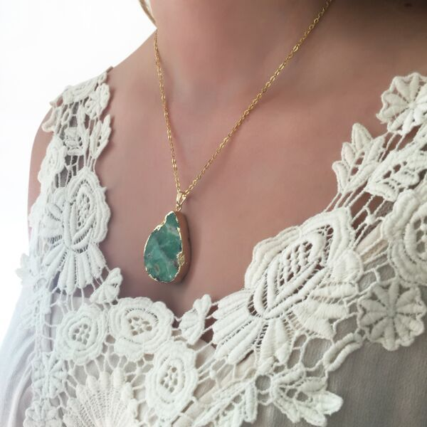 Jade necklace by Presh