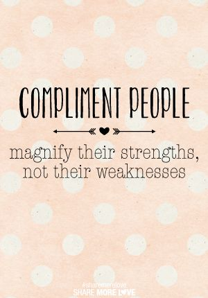compliment people