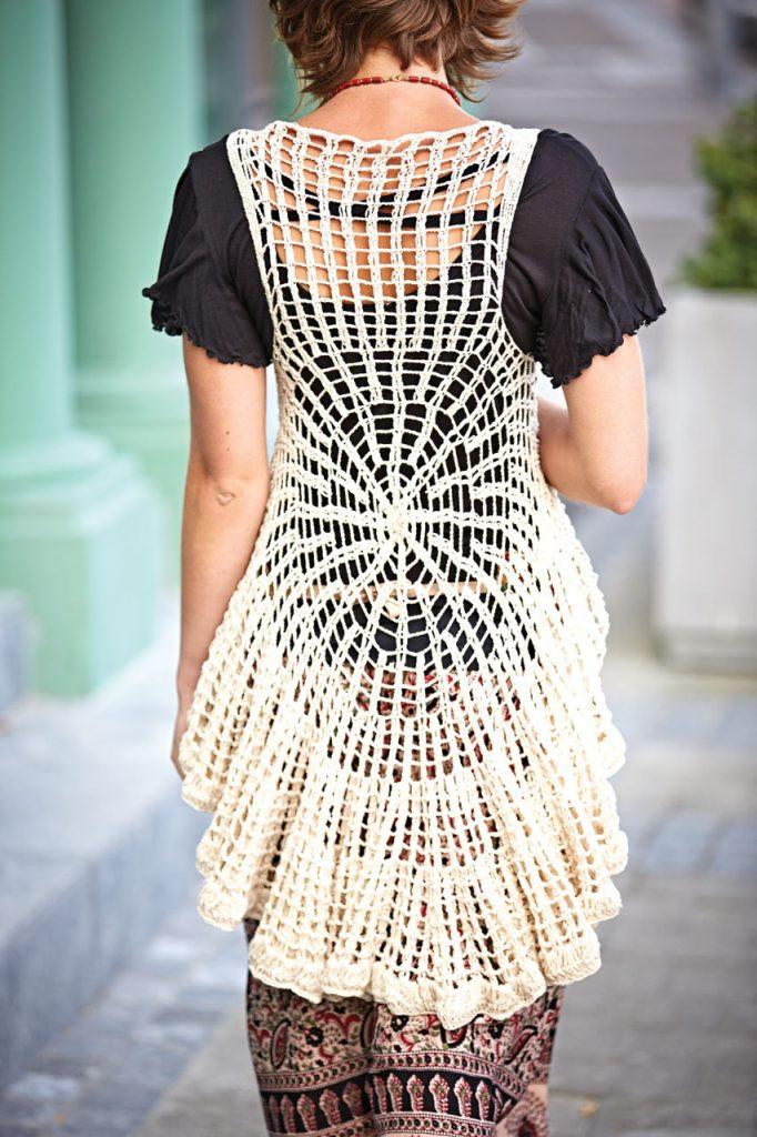 handwoven crochet vest Jayli Designs