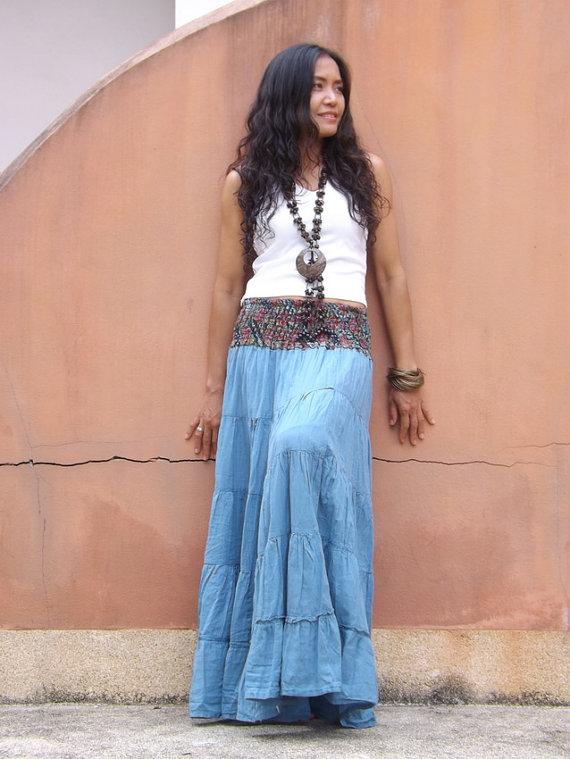 hippi chic maxi skirt by Ablaa