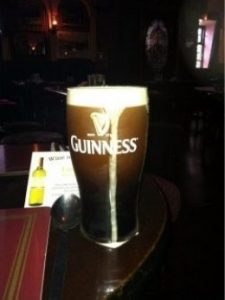 pint of guinness in Ireland