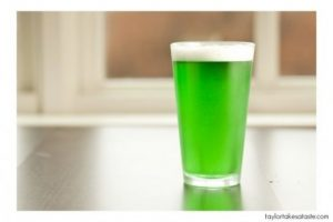 green beer for st patricks day