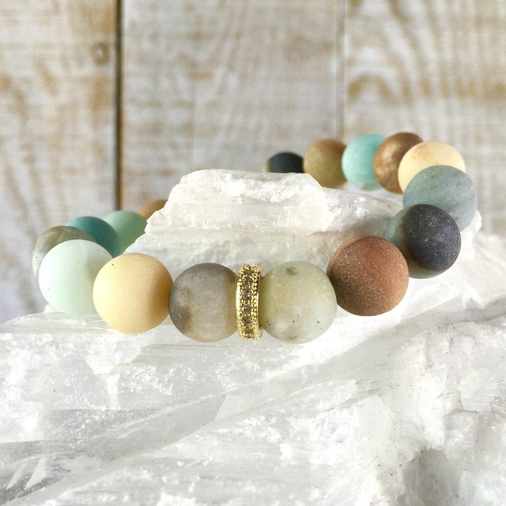 Amazonite Gemstone Stretch Bracelet Presh