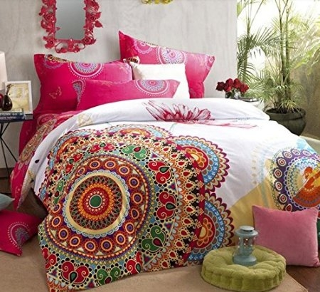 boho bedding for spring