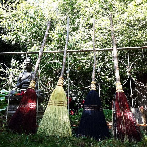 handmade rustic brooms