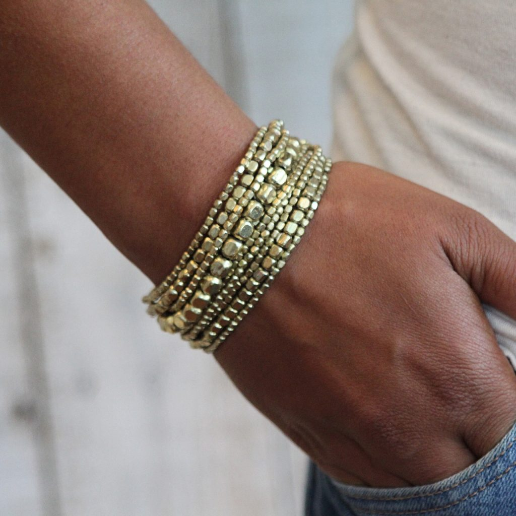 liquid bead bracelet gold by Presh