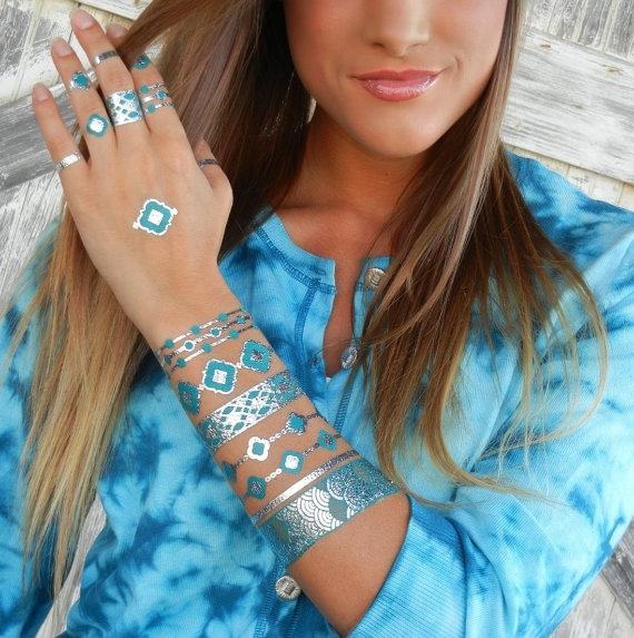 metallic tattoos