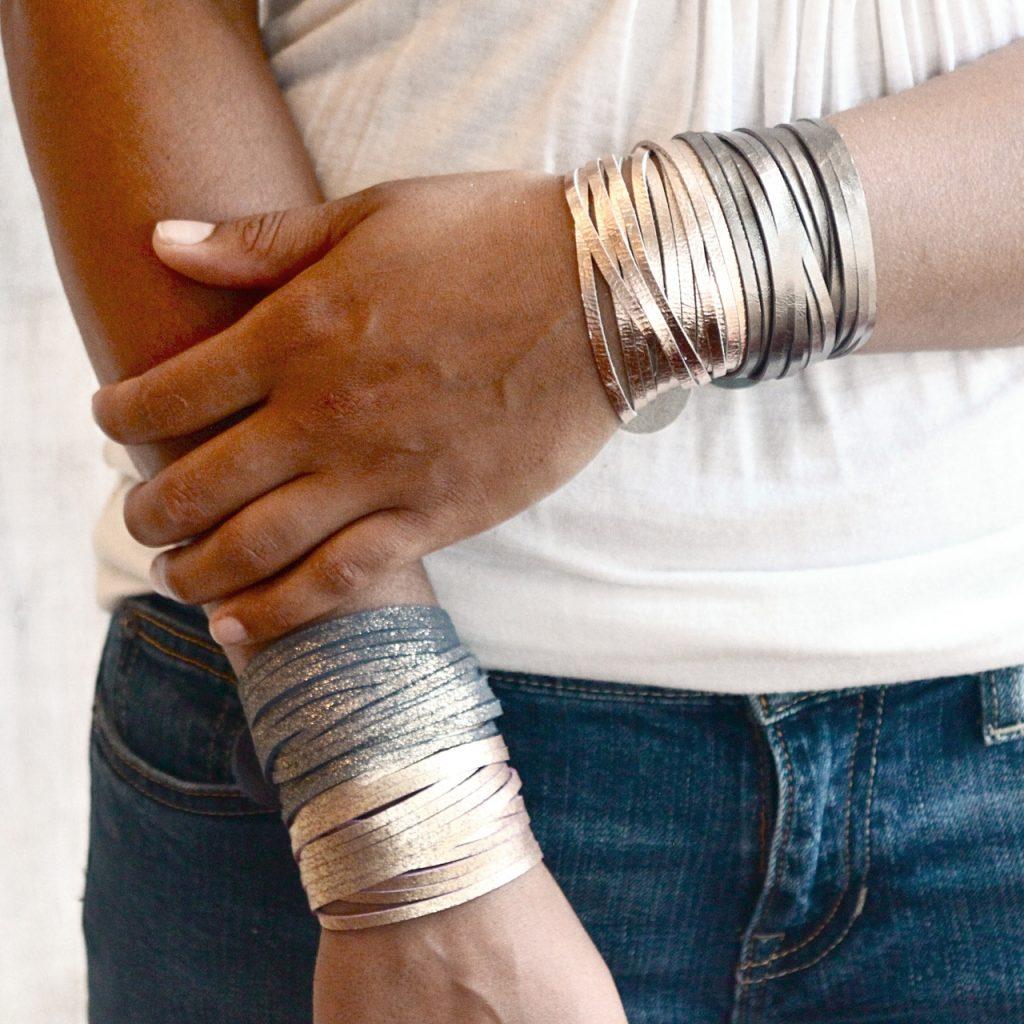 shimmering wrap bracelets by Presh