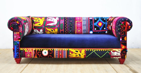 boehmian patchwork sofa
