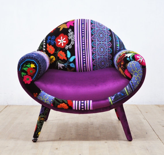 smily patchwork chair