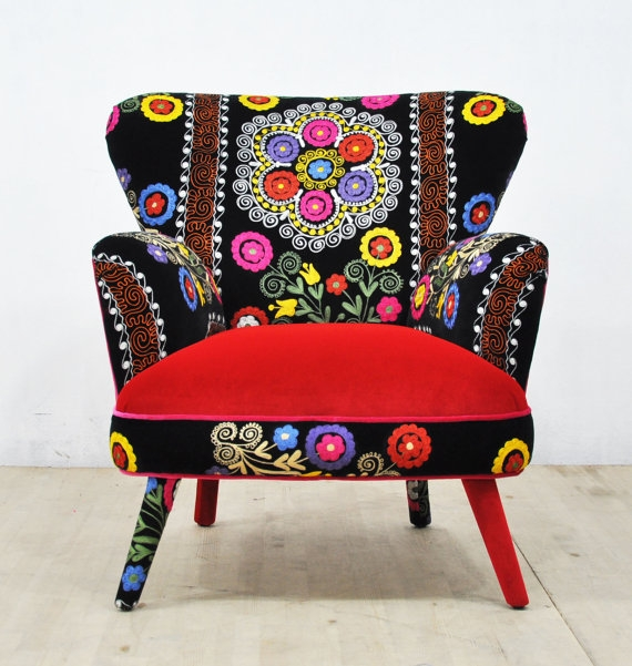 suzani armchair -winter