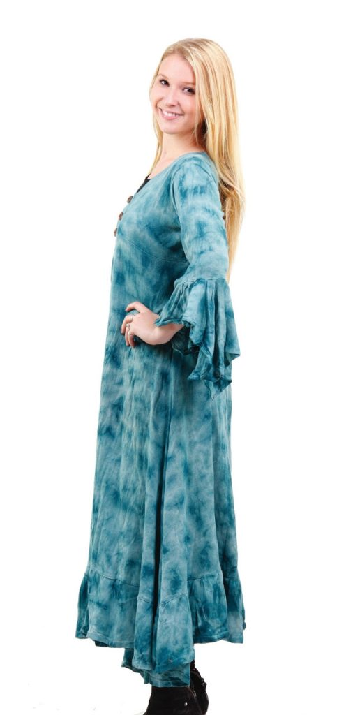 blue tie dye gypsy jacket