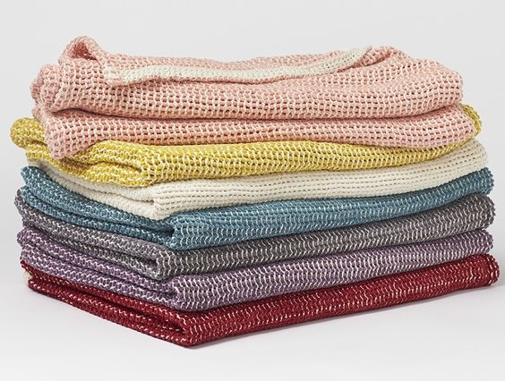 chenille chunky weave throw