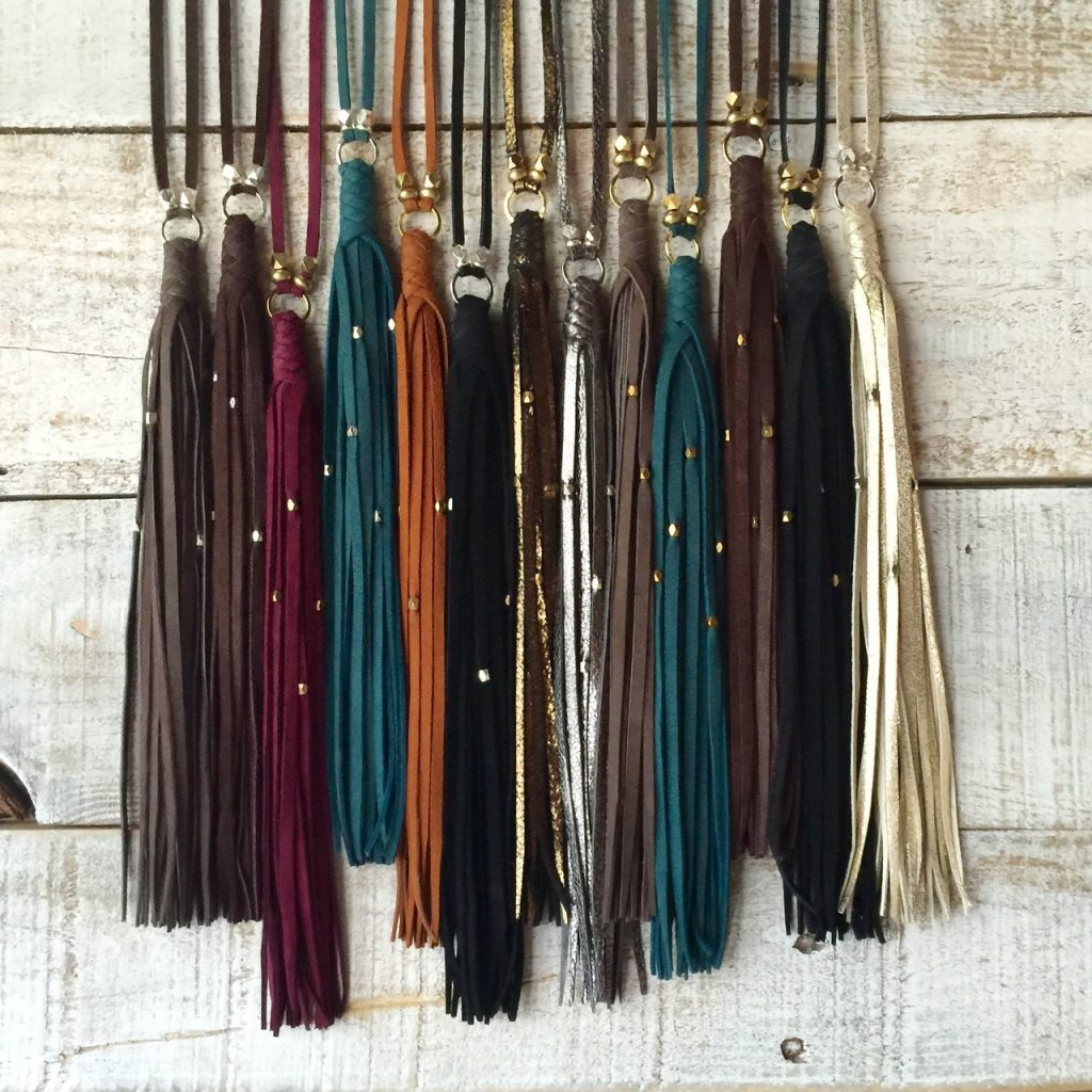 gypsy tassel necklaces by Presh