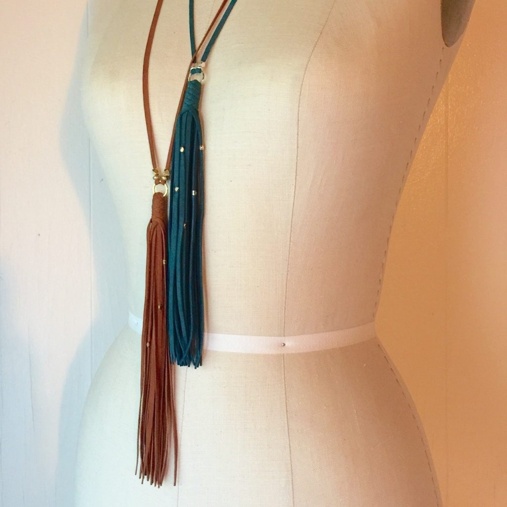gypsy tassel necklaces layered by Presh