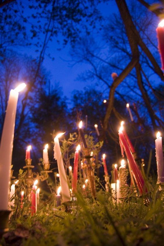 Imbolc candles