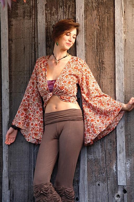recycled silk sari Gypsy Wrap Top by Jayli