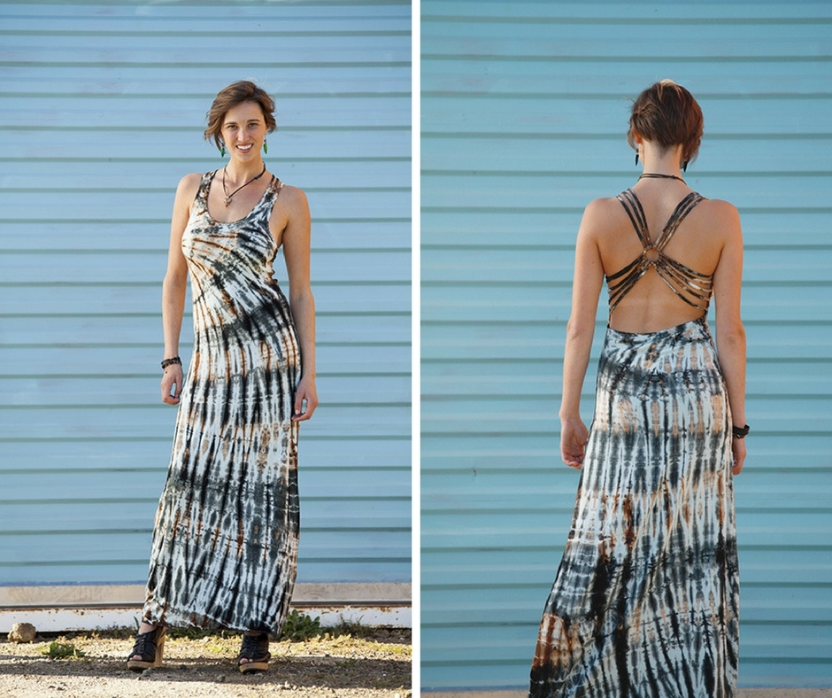 5 Strap Circle Back Maxi Dress by Jayli