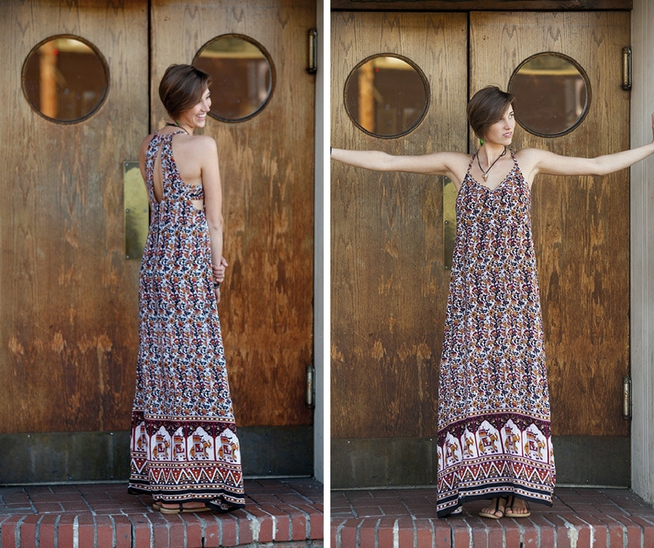 Peek-A-Boo Maxi Dress by Jayli