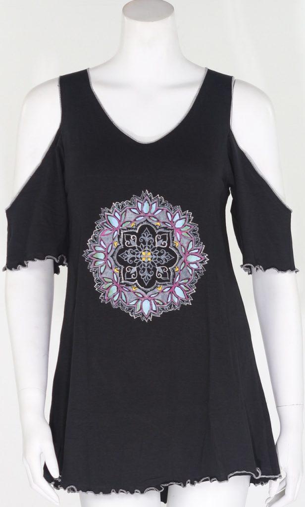 lotus mandala open shoulder top